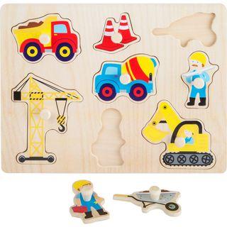 Puzzle de madera 8 siluetas temática construcción