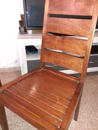 sillas coloniales de teka