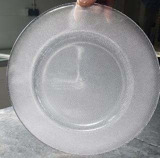 12 Bajo platos cristal opacos