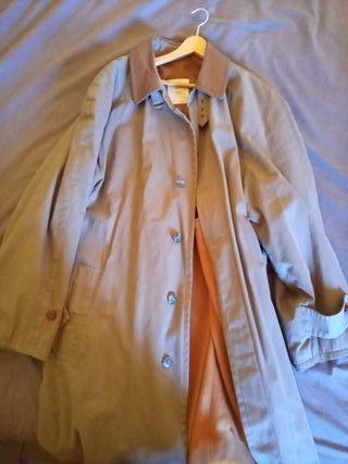 Gabardina/abrigo marrón