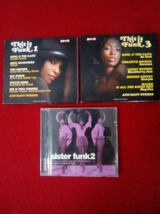 3 CD d Musica Funk.56 temas