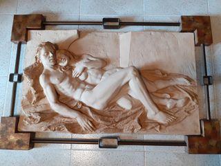 cuadro de forja y molde.la pareja