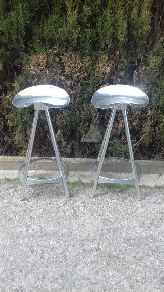Taburetes de aluminio vintage