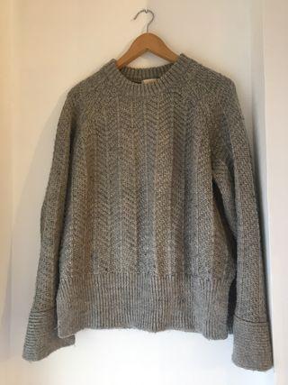 Jersey gris de lana