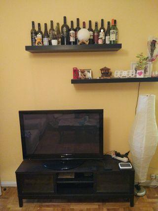 Conjunto Ikea Mesa TV salón + 2 baldas
