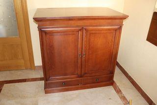 Mueble madera caoba para TV