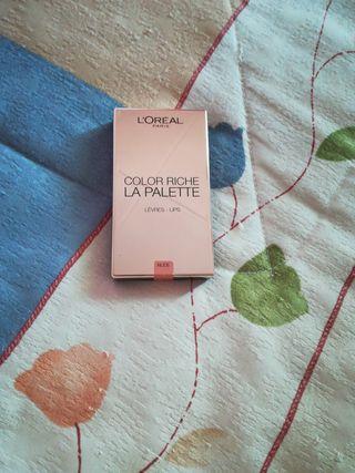 paleta labios L'Oréal..