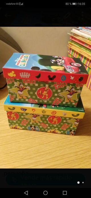 Dos cajitas cartón nuevas