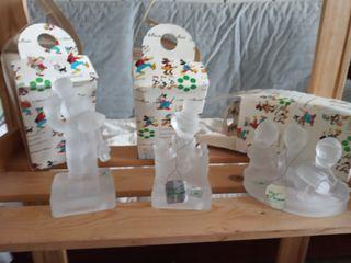 colección 3 figuras cristal Disney