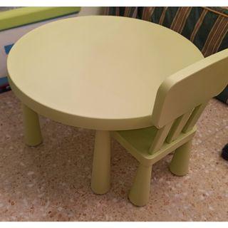 Mesa y silla escritorio infantil