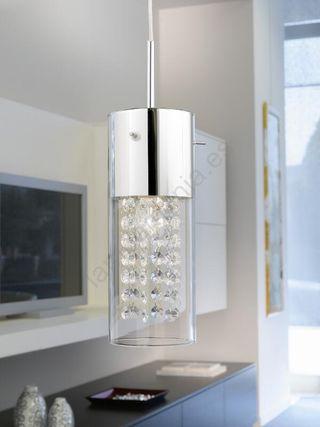LAMPARA TECHO CRISTAL METAL DIAMOND 90695 EGLO