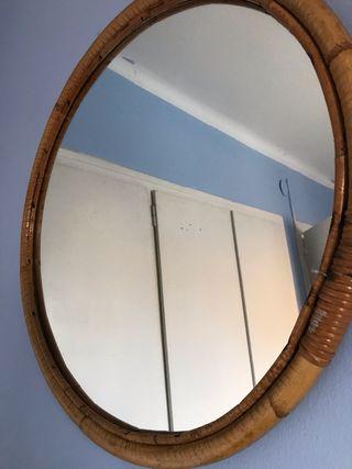 Espejo de pared redondo