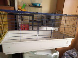 Jaula metálica para conejos o similar