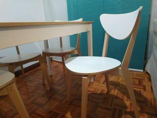 Mesa y 4 sillas de Ikea
