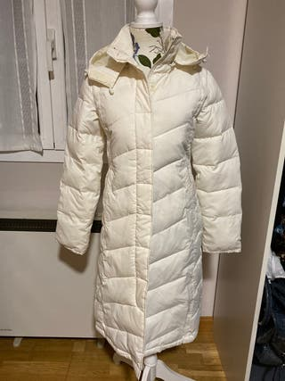 Abrigo plumífero blanco