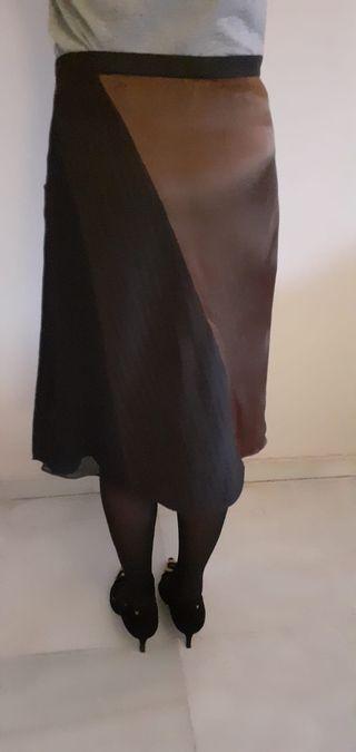 Falda midi DKNY