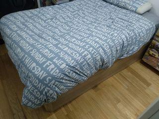 Cama canapé y colchón 1,20 m×2 metros de largo