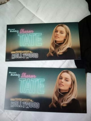 tarjetas once upon a time in Hollywood