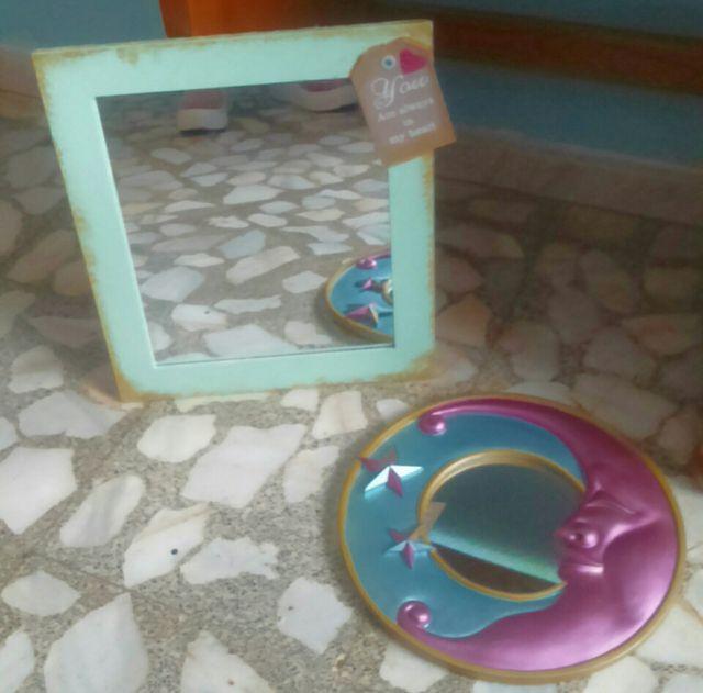 2 espejos de pared