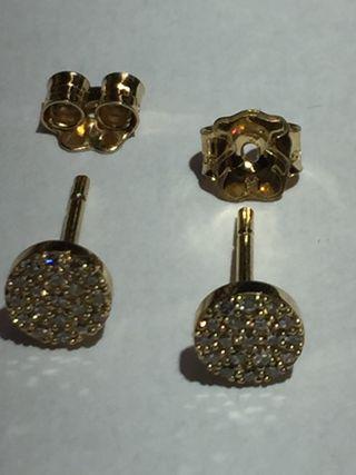 TOUS Pendientes GEM POWER de oro 18k y diamantes.
