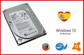 HARD DRIVE 500GB - WINDOWS 10 PRO - GOOGLE , AVAST