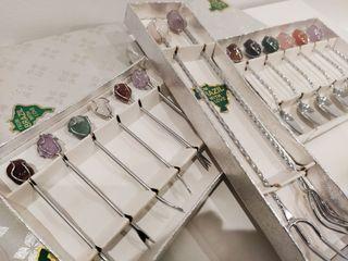 Cubiertos Plata con Piedras