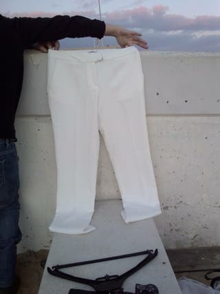 Pantalon traje blanco verano