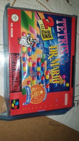 Tetris y dr Mario súper nintendo nuevo