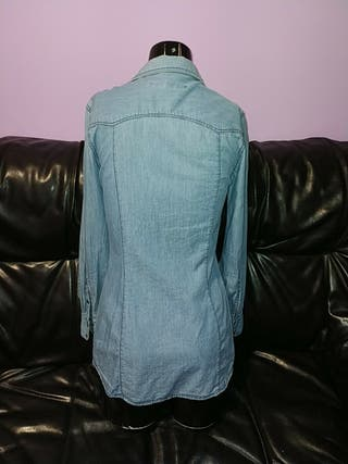 camisa larga mujer zara