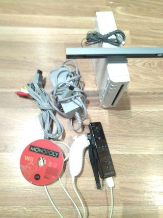 consola wii + cables mandos juego