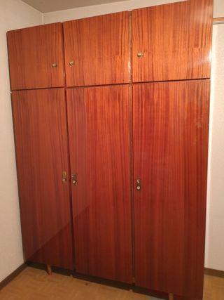 Armario 3 puertas VINTAGE madera chapada