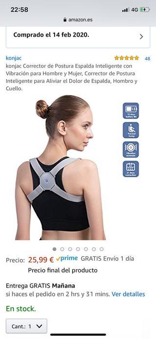 Corrector Postura Espalda Inteligente Vibración