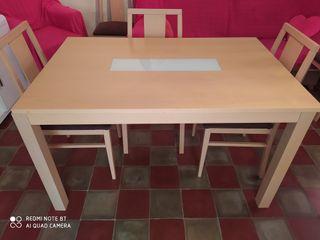 conjunto de mesa grande 6 sillas y mesita