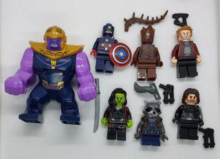 Figuras tipo lego superheroes Avengers