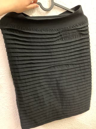 Falda de tubo negra