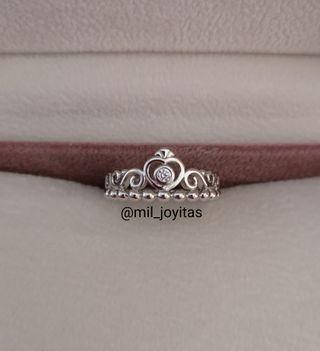 Anillo corona Pandora de plata 925