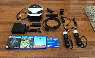 Pack2 Playstation VR PSVR / x2 Move / x4 Juegazos