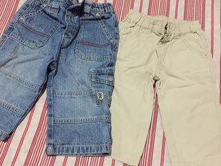 2 Pantalones bebe 9-12meses (niño)