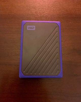 Disco duro SSD wd my passport go 500gb