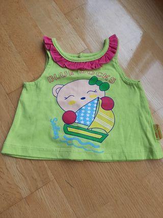 camiseta niña tirantes de 3 meses