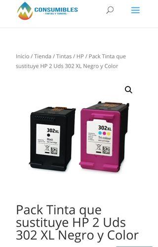 Cartucho de tinta Hp 302 negro+color
