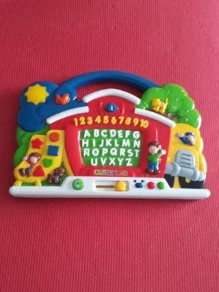 Juguete educativo, conocer números, letras, formas