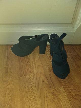 zapato boda azul marino