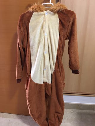Disfraz o pijama león talla de 6-8 años.