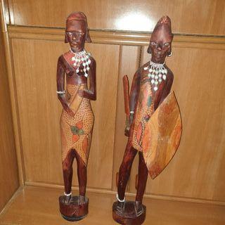 figura madera masai