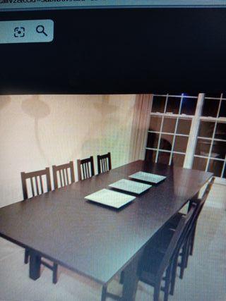 Mesa comedor IKEA STORNAS + 6 sillas IKEA BALSER