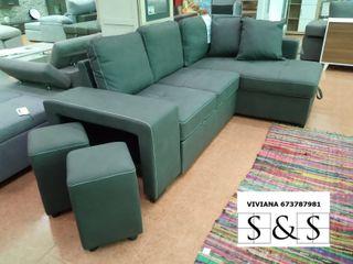Sofá-cama chaise-longue con arcón STACY 673*78*79*