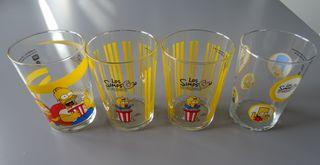 4 Vasos de Los Simpsons