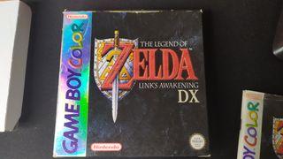 Caja original Zelda Links Awakening game boy color