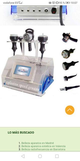 Máquina combo cavitación y radiofrecuencia
